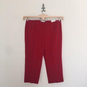 Jones Studio Red Straight Leg Dress Pants Size 24W